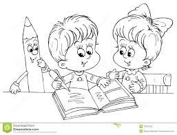 children reading clip art black and white u2013 101 clip art