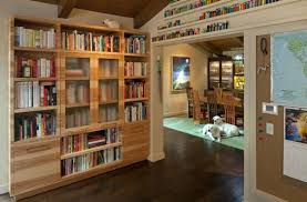 Solid Wood Bookcases With Glass Doors Bookcases With Glass Doors Design In Solid Wood Bookcase With