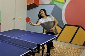 Table Tennis Meeting Table Is The Tech Popping Ping Pong Offers An Answer Wsj