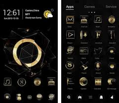 black apk black gold go launcher theme apk version v1 0