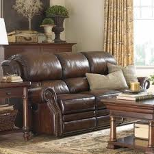 Brown Leather Reclining Sofa by Leather Sofa Recliners Foter
