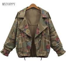 army pattern crop top 2017 new women s army green camouflage jacket coat cardigan zipper