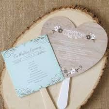 Rustic Wedding Program Fans Wood Grain Floral Heart Program Fan 40 Off Http Mediaplus