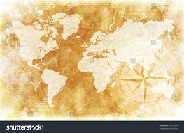 Vintage World Map Canvas by Oldfashioned World Map Design Rustic World Stock Photo 85109380