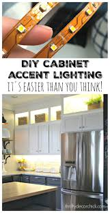 Kitchen Accent Lighting Diy And Lower Cabinet Lighting From Thrifty Decor