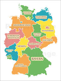 map of deutschland germany ingo menhard germany map with labels for learning children poster