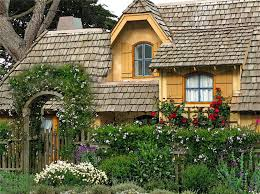 country cottage wallpaper houses country cottage flowers roses house tree garden fence