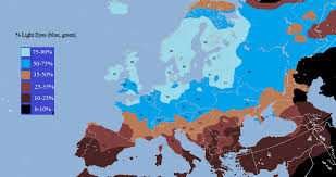 the frequency of light colored eyes in europe oneeurope