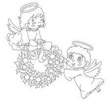 xmas angel coloring pages hellokids