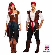 Halloween Costume Ladies Pirate Caribbean Fancy Dress Costume Ladies Mens Couples