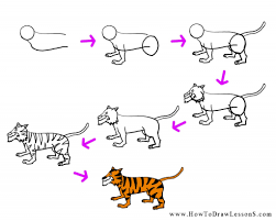 how to draw a cartoon tiger how to draw a cartoon tiger art for