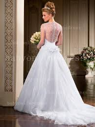 gown for wedding see through sleeves bridal gowns sweetheart beading handmade