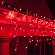 red white icicle lights christmas icicle light 150 red icicle lights white wire