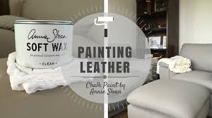 Paint On Leather Sofa Painting Leather With Chalk Paint By Sloan Part 2 Rowe