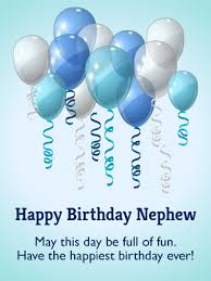 have the happiest birthday birthday balloon card for nephew