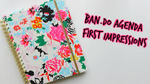ban do agenda planner first impressions chrissylilly youtube