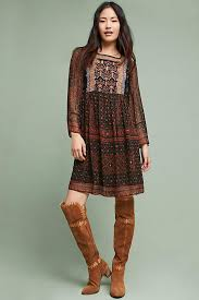 munro embroidered tunic dress anthropologie
