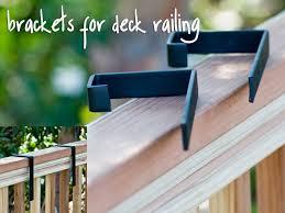 Metal Deck Bench Brackets - deck brackets for hanging rail planters windowbox com