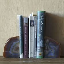 agate bookends west elm