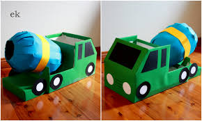 Homemade Toy Box by Box Cement Mixer Cement Mixers Cardboard Boxes And Cement