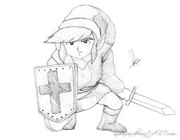 link kneeling the legend of zelda by gibarrar on deviantart