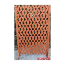 traliccio legno steccato estensibile 2 pz con grigliato traliccio in legno cm