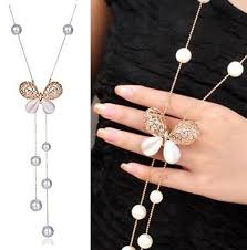 long butterfly necklace images Ethnic khazana simulated opal crystal latest design butterfly jpg