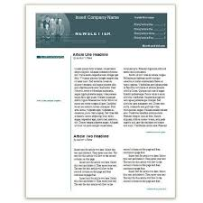word template for newsletter free sample newsletter templates