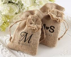 wedding favor burlap favor bag with drawstring tie rustic wedding favors by