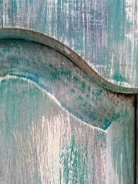 layering paint colors with a hotel key card or credit card to