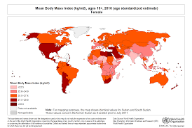 Health Map Who Global Health Observatory Map Gallery