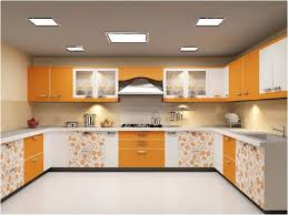 charming kitchen with modular design and floral motif simple