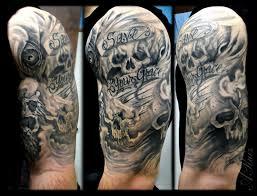forearm skull tattoos skull sleeve tattoo ideas half sleeve cloud tattoos forearm skull