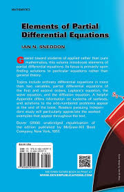 elements of partial differential equations dover books on
