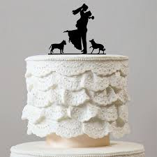 engagement cake toppers sweet family wedding cake toppers 2 dogs engagement puppy pets