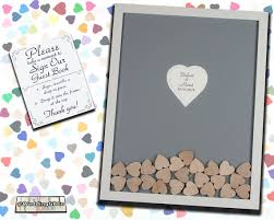 unique wedding guestbook wedding guest book alternative wood drop in top heart frame unique
