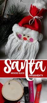 one savvy nyc area wood slice santa ornaments a