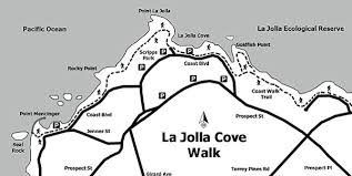 la jolla map photo la jolla cove walk map san diego reader