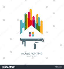 Vector Logo Label Emblem Design House Stock Vector - Home construction and decoration