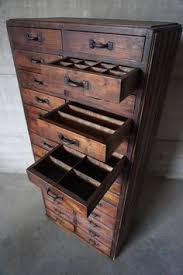 Vintage Storage Cabinets Rolling Apothecary Wood Storage Cabinet Vintage Industrial With