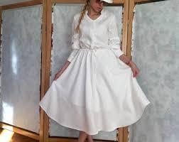 White Linen White Linen Dress Etsy