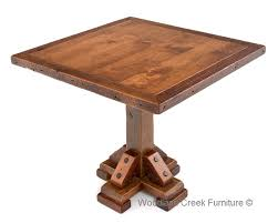 Rustic Bar Table Rustic Pub Table Antique Wood Bar Table Distressed Cabin