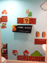 Super Mario Bedroom Decor Super Mario Bros Bath Geek Stuff Pinterest Super Mario