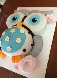 owl baby shower cake easy owl infant shower quarter sheet cake
