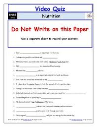 video worksheet quiz u0026 ans for bill nye nutrition