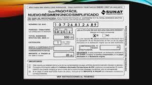 cronograma de sunat 2016 rus declara en el nuevo régimen único simplificado youtube