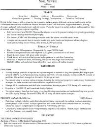 resume template sles sales and trading resume