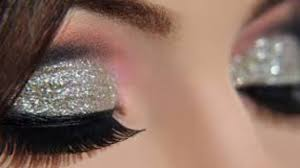 cut crease silver glitter elegant makeup tutorial