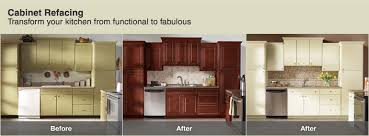 Resurfaced Kitchen Cabinets Before And After Kitchen Captivating Kitchen Cabinets Refacing Ideas Cabinet