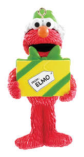 2017 elmo with present carlton ornament from american greetings